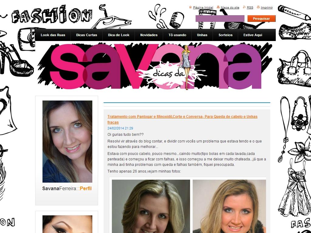 dicas de savana 美容情報ウェブサイト