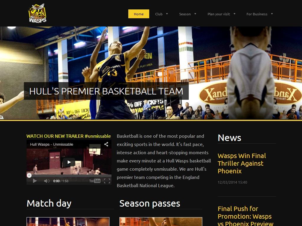 Hull Wasp イギリス バスケットボールチーム
